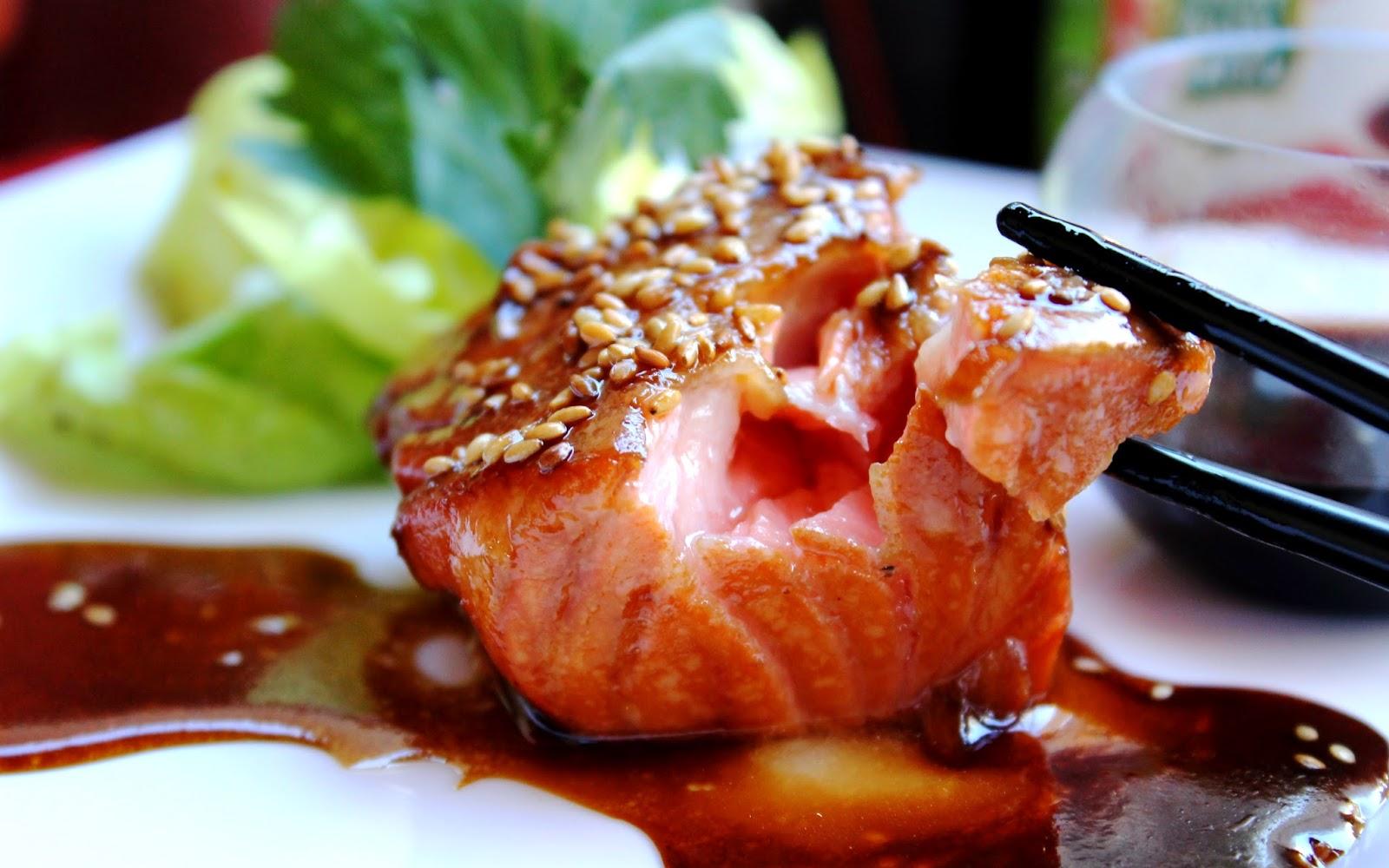 Salmone in salsa teriyaki