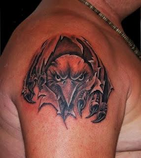 Out of Skin Eagle Tattoo