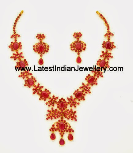 Latest Ruby Necklace Design