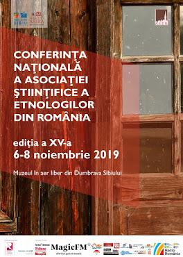 Conferința Anuală a Asociației de Științe Etnologice din România (ASER), ediția a XV-a , 6-8 noiemb
