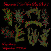 Romantic Rose Vines PNG Tubes