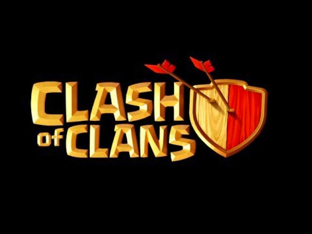 10028-Clash of Clans Logo Black Background HD Wallpaperz