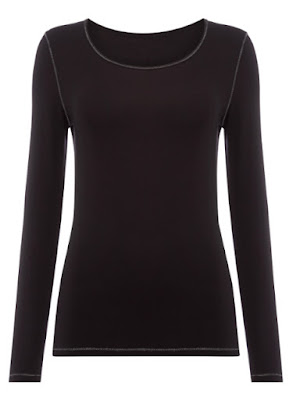 Sainsburys TU Clothing Womens Black Heat Active Long Sleeved Top