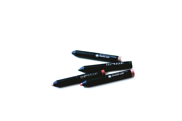 trèStiQue Shadow Crayon y Matte Lip Crayon