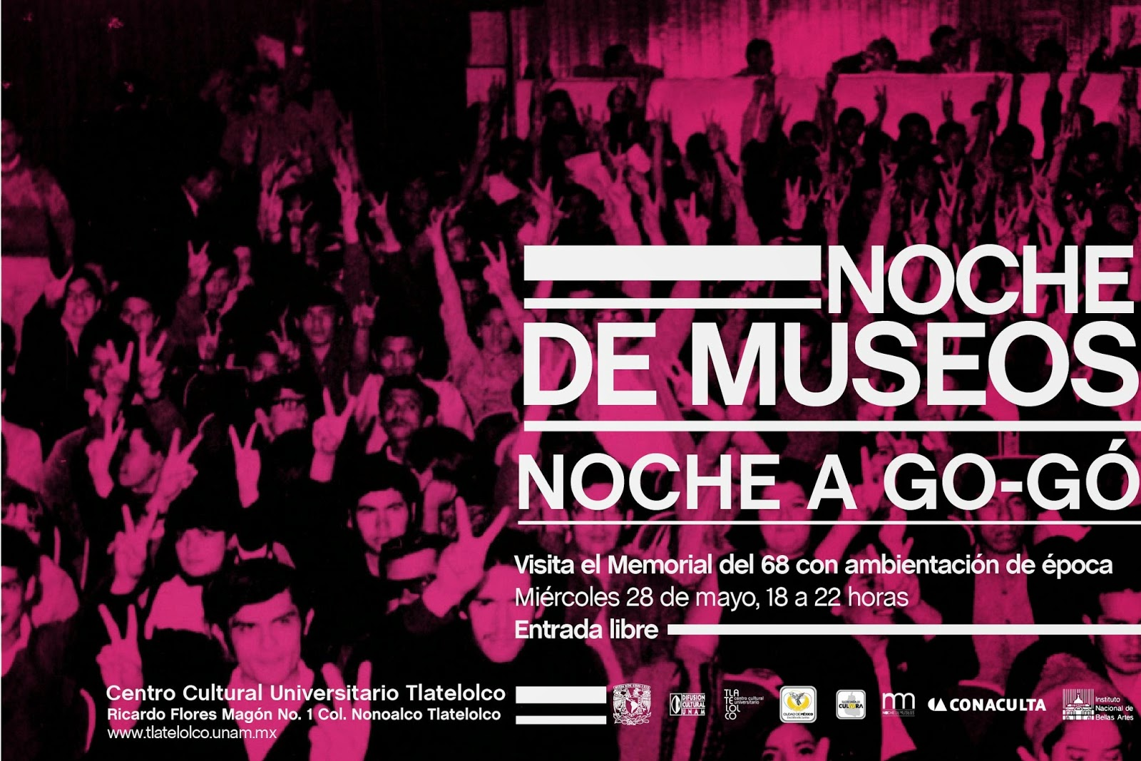 Noche de Museos a Go-Gó en Tlatelolco