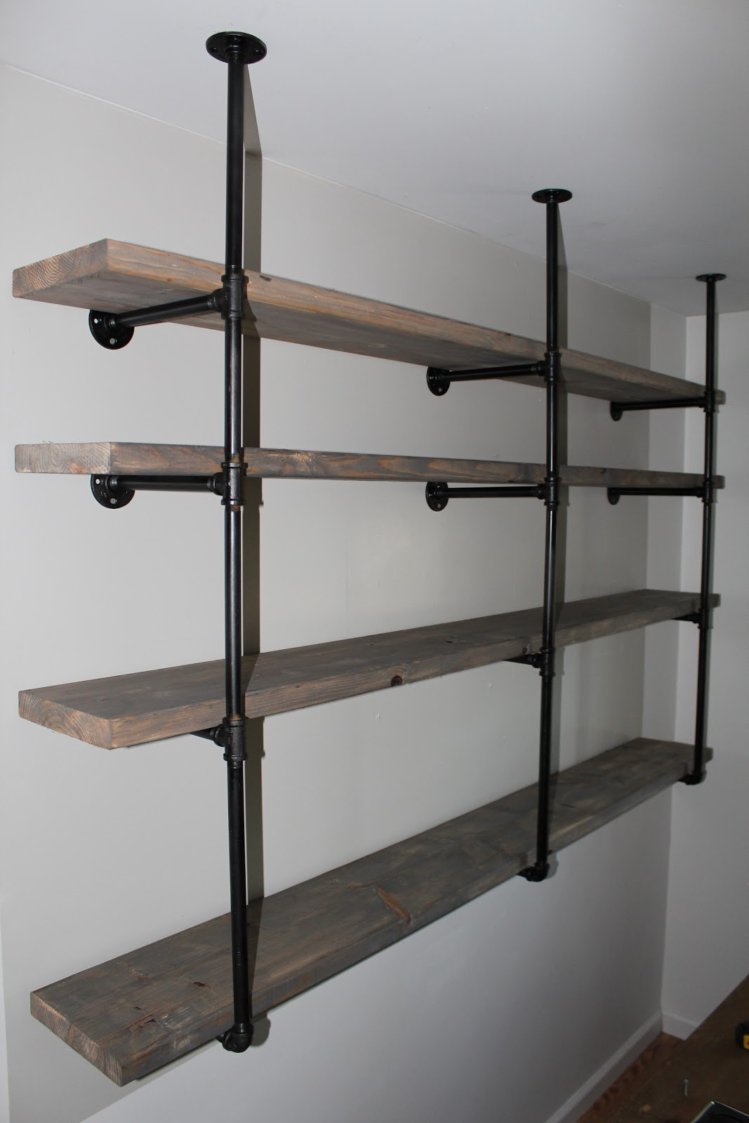 Sylvie Liv: Industrial Rustic Shelf Tutorial