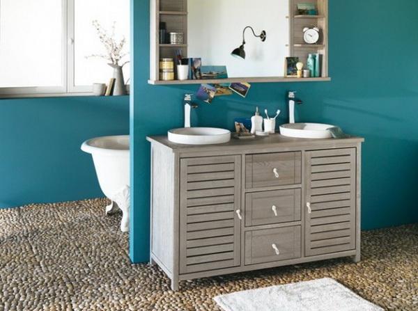 Deco chambre interieur id es de d coration de la salle de - Salle de bain couleur bleu ...