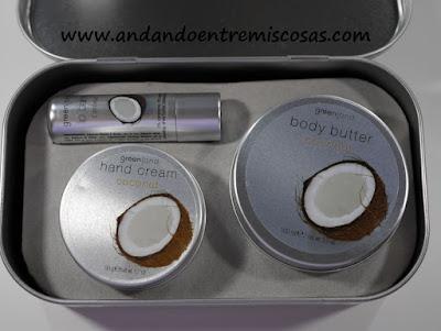 Kit de manteca corporal, crema de manos y bálsamo labial de Coco Greenland