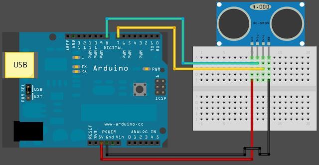 นาย arduino ใช้ ติดต่อกับ ping ultrasonic sensor