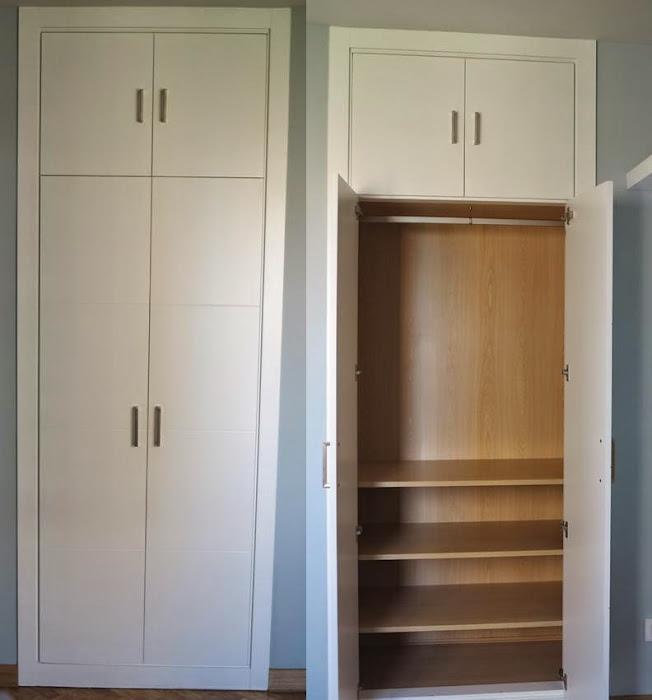 Faber mobiliario frente de armario modelo ranuras con - Modelos armarios empotrados ...