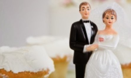 Get Married, Live Longer couple man woman groom bride wedding cake