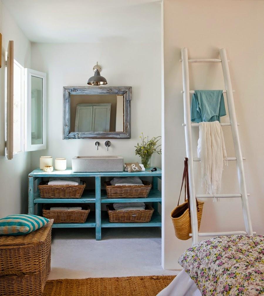 wystrój wnętrz, home decor, wnętrza, aranżacje, białe wnętrza, domek wakacyjny, styl skandynawski, łazienka
