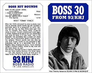 KHJ Boss 30 No. 15 - Tommy Vance