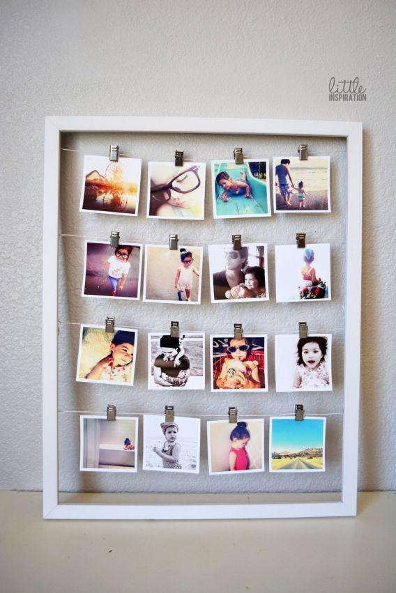 inventa & crea: Cuadro de fotos.