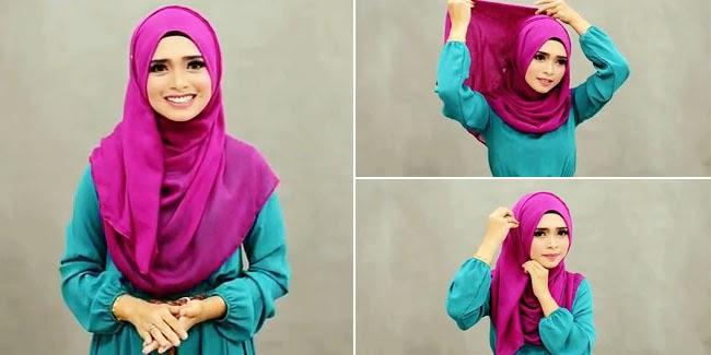 Tutorial Hijab Modern Yang Menutup Bagian Dada