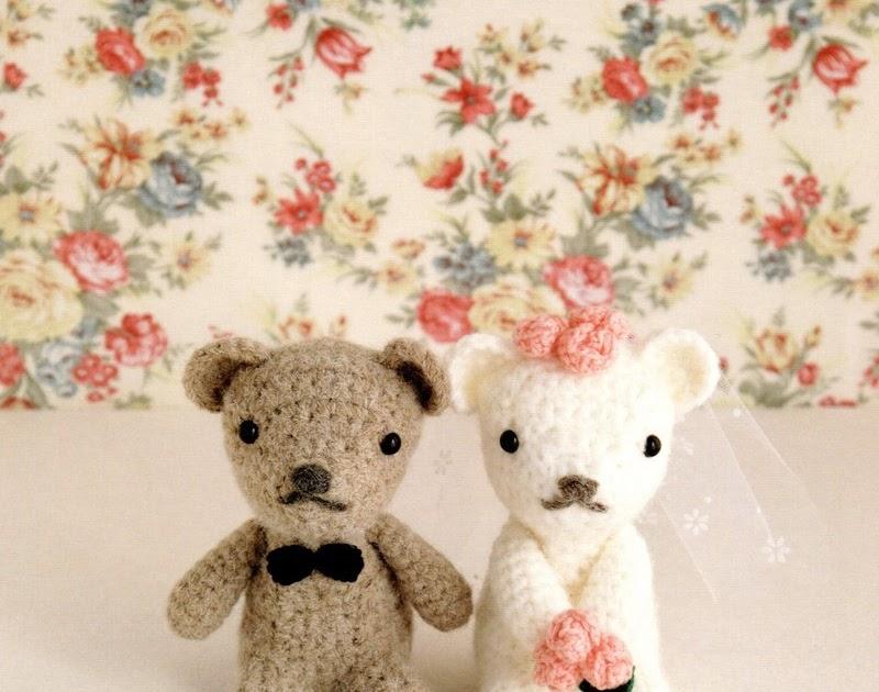 Amigurumi Rainbow Unicorn Pattern : Amigurumi Newly Weds Teddy Bears Plush Crochet Pattern PDF ...