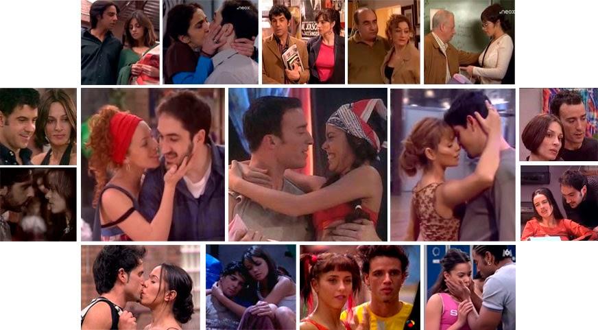 Romances en series de televisión, Pedro y Lola, Silvia y Rober, Beatriz Luengo, Pablo Puyol, Mónica Cruz, Miguel Ángel Muñoz, Dafne Fernández