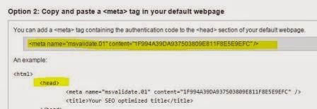 Mendaftarkan Blog ke Bing
