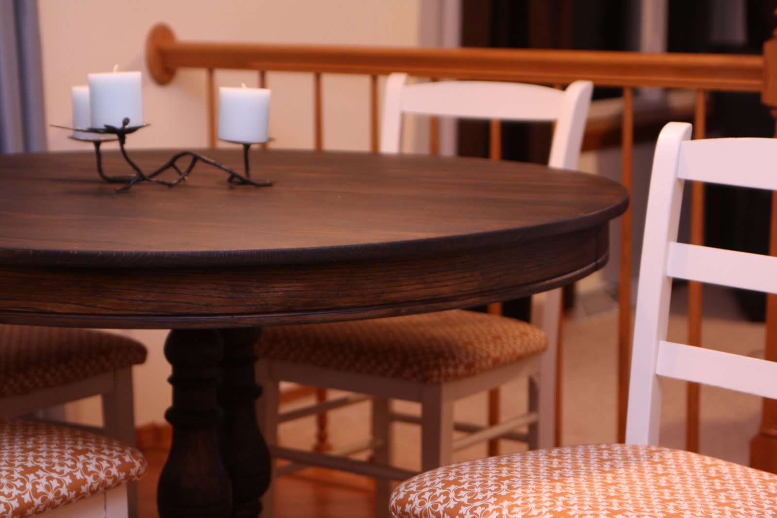 Decorating the dorchester way refinished dining room table and chairs - Refinish contemporary dining room tables ...
