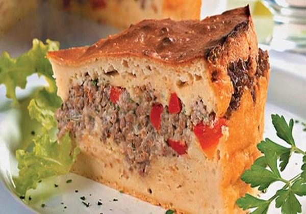 Torta de Liquidificador de Carne Moída Simples