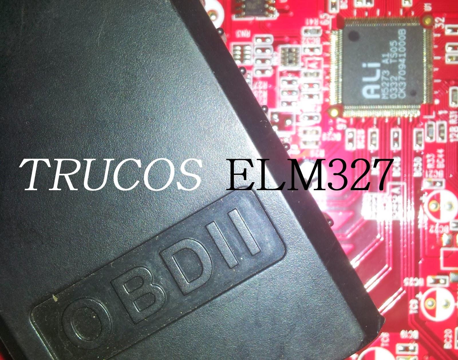 Trucos y consejos ELM327. |