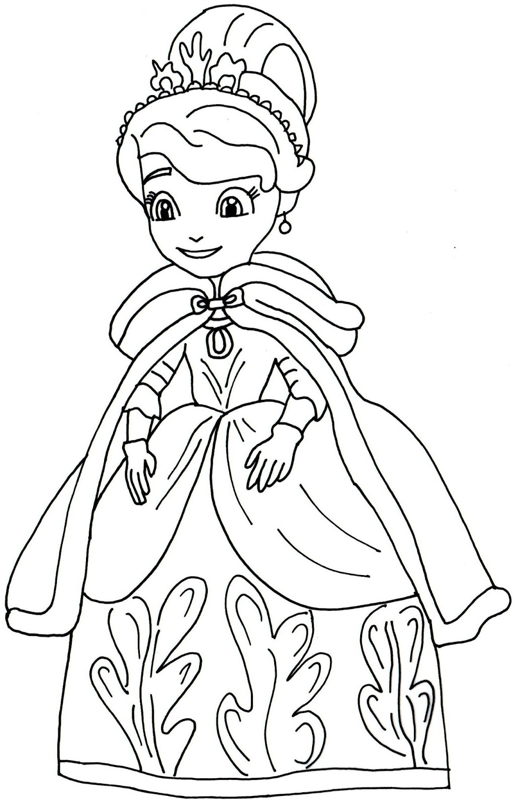 Princess sophia printable coloring pages - Winters Gift Sofia The First Coloring Page