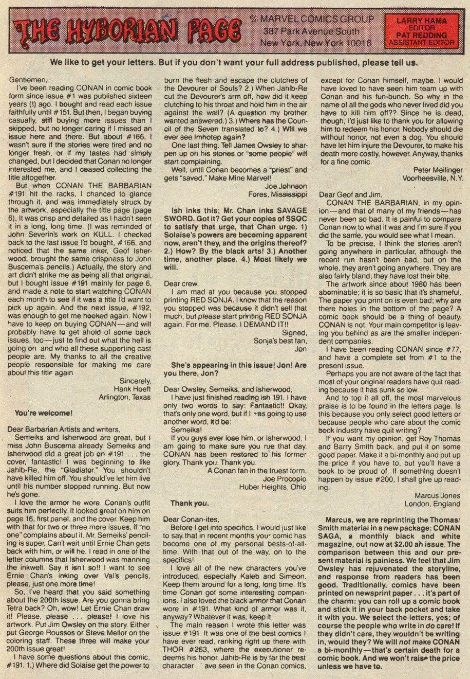 Conan the Barbarian (1970) Issue #197 #209 - English 24