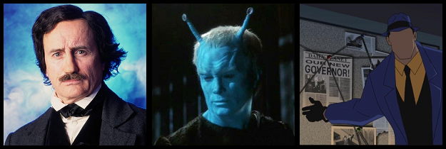 Jeffrey Combs as Poe, Shran, and The Question