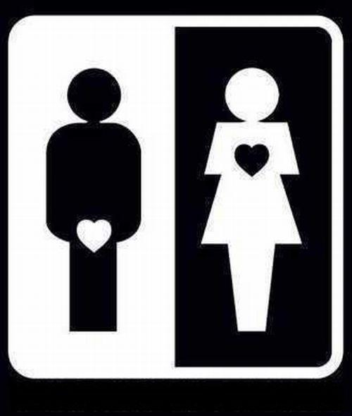 Decor a dois A verdade nua e crua -> Boneco Banheiro Feminino