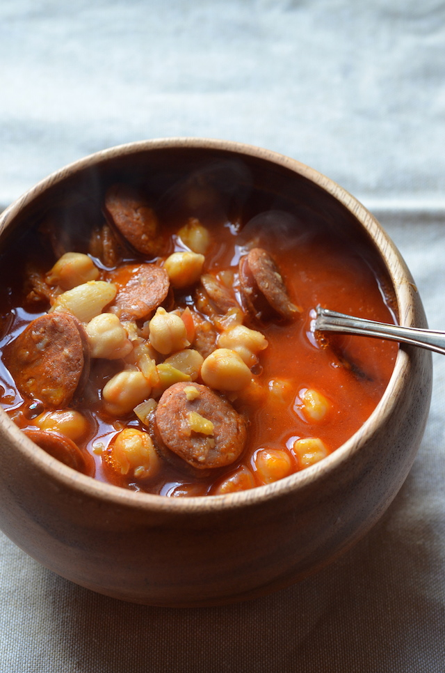 This simple Spanish-style Chickpea & Chorizo soup is a favorite at our ...