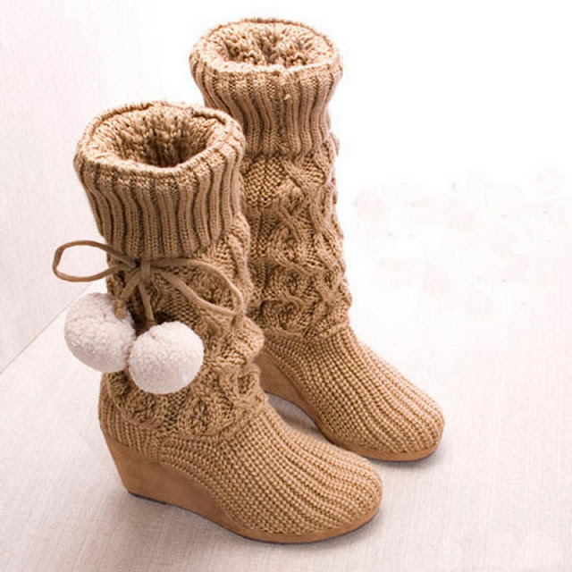 أفكار غريبة -## Smile-Campus-knitted-boots-25286-2529