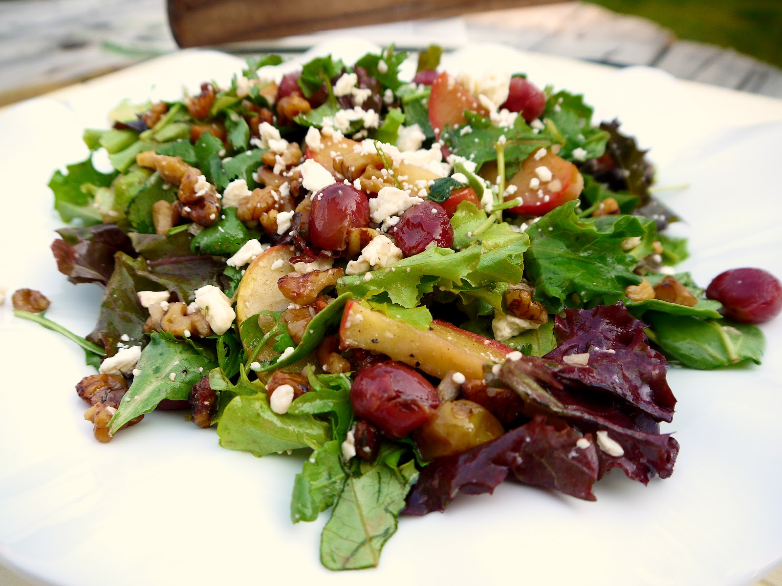 "There's something about a waldorf salad that says ""fall is here ..."