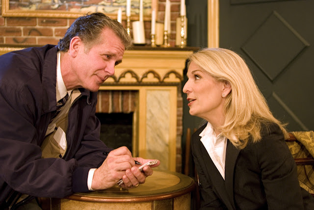 Catherine Russell and Richard Shoberg star in the Old New York production of Perfect Crime