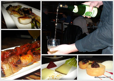 Dishes from the Basque cider dinner at Tinto, owned by Chef Jose Garces. Photos by Glamorosi