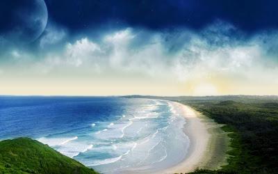 wallpaper pemandangan pantai