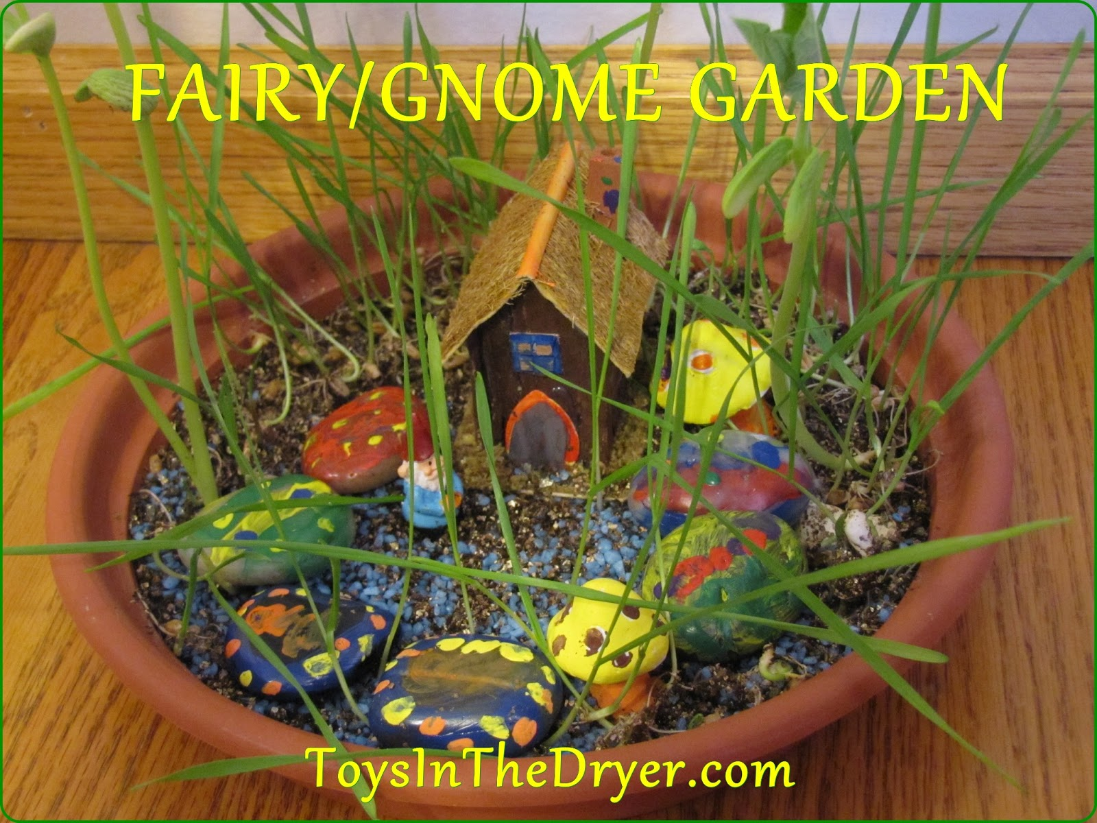 Easy DIY Fairy/Gnome Garden - Toys In The Dryer