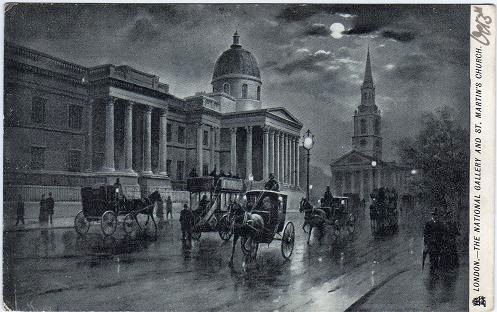 Vintage postcard of the National Gallery, London