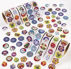 CHRISTMAS HOLIDAY SCRAPBOOKING STICKER ASSORTMENT - (1000 stickers!)