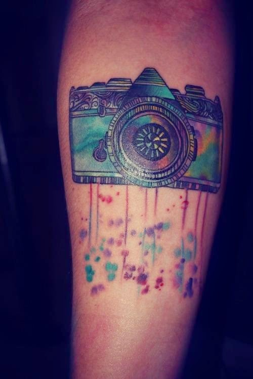 ♥ ♫ ♥ Awesome Watercolor Camera Tattoos ♥ ♫ ♥