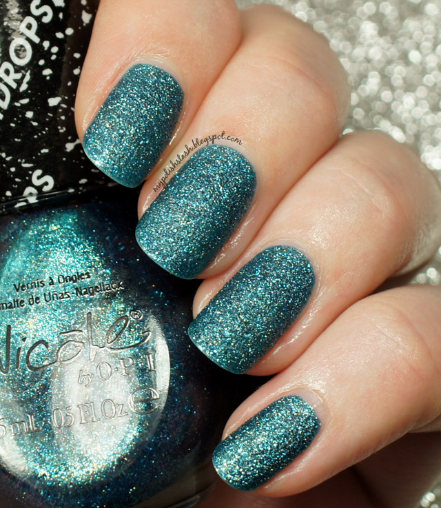 textured nail polish teal NOPI liquid sand