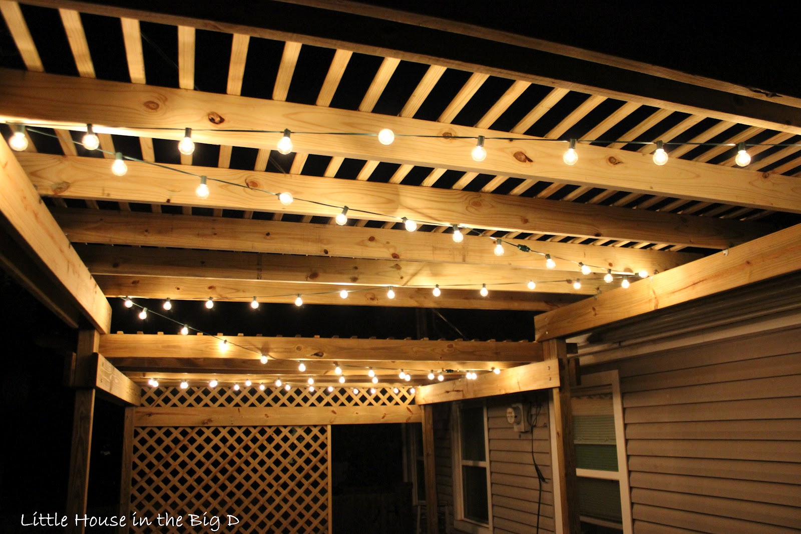 Gallery for gt pergola with string lights