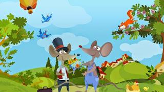 La Ratón del Campo y el Ratón de la Ciudad fábula con moraleja de Esopo