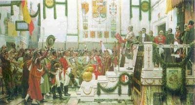 Proclamación de la Constitución de 1812 en el oratorio de San Felipe Neri, Cádiz - Salvador Viniegra