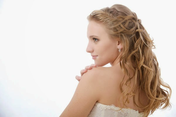 simple hairstyles for medium hair for wedding