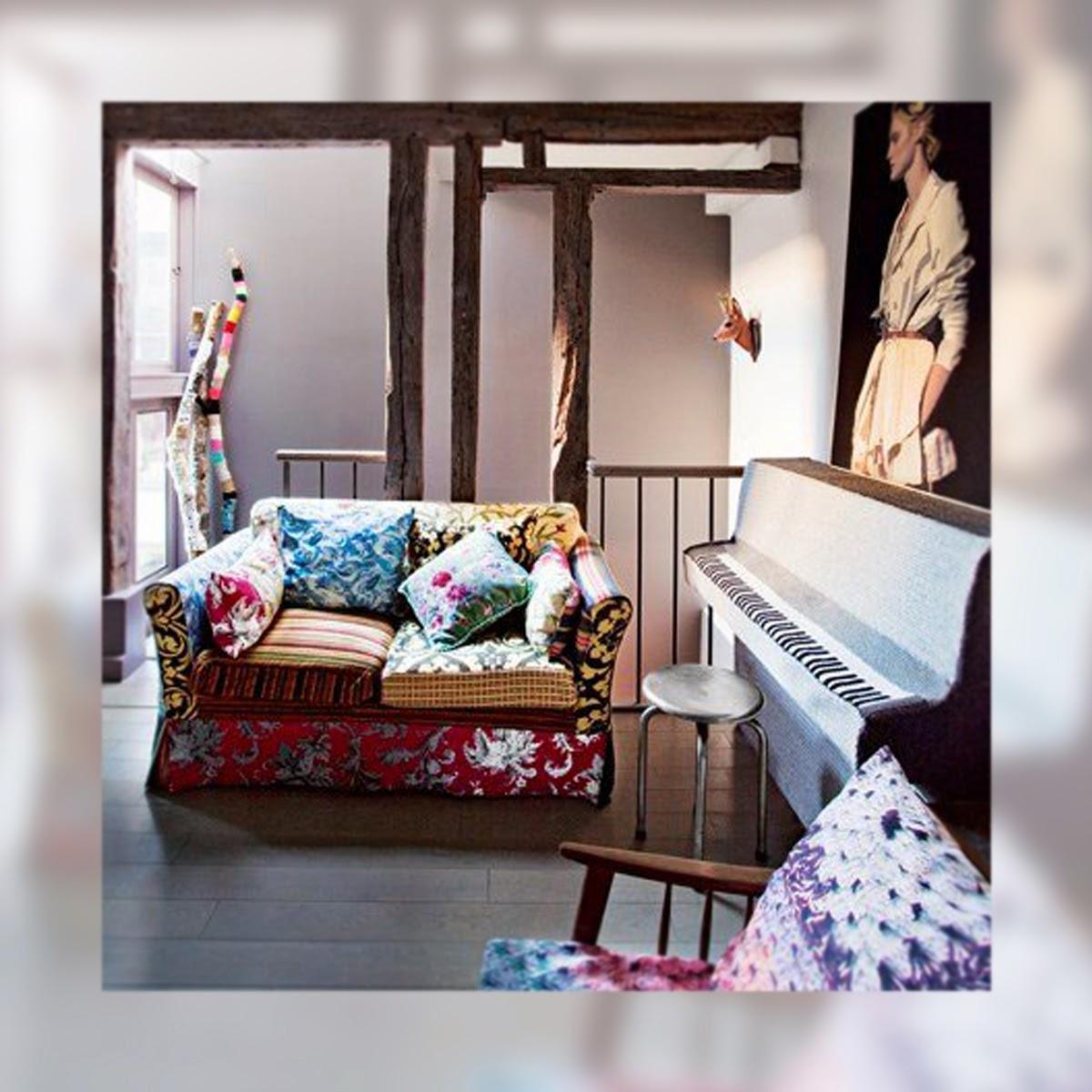 Una casa de aires Boho Chic, La Musa Decoración, Salón, Living room