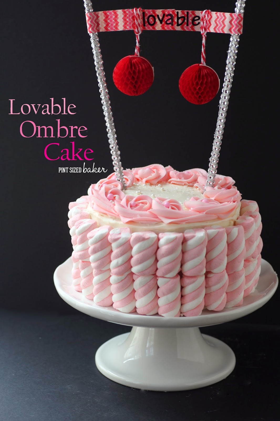 I think that this Lovable Ombre cake would look so cute at a Valentine's Day tea party! The pink layers inside would look so pretty for the party!