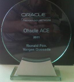 Reconocimiento Oracle ACE