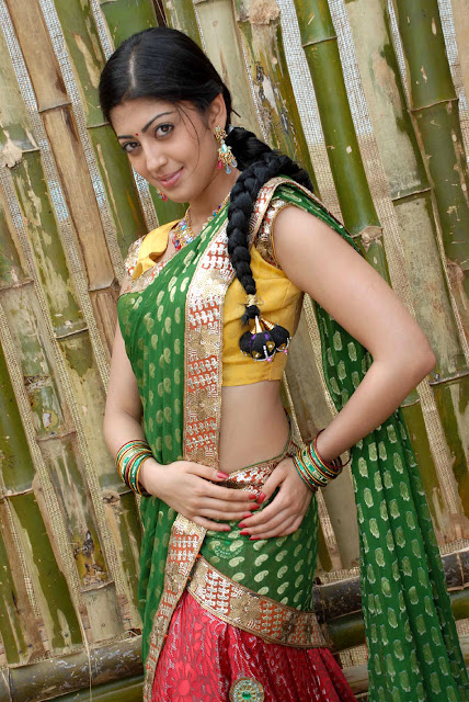 Pranitha latest  saree stills.jpg