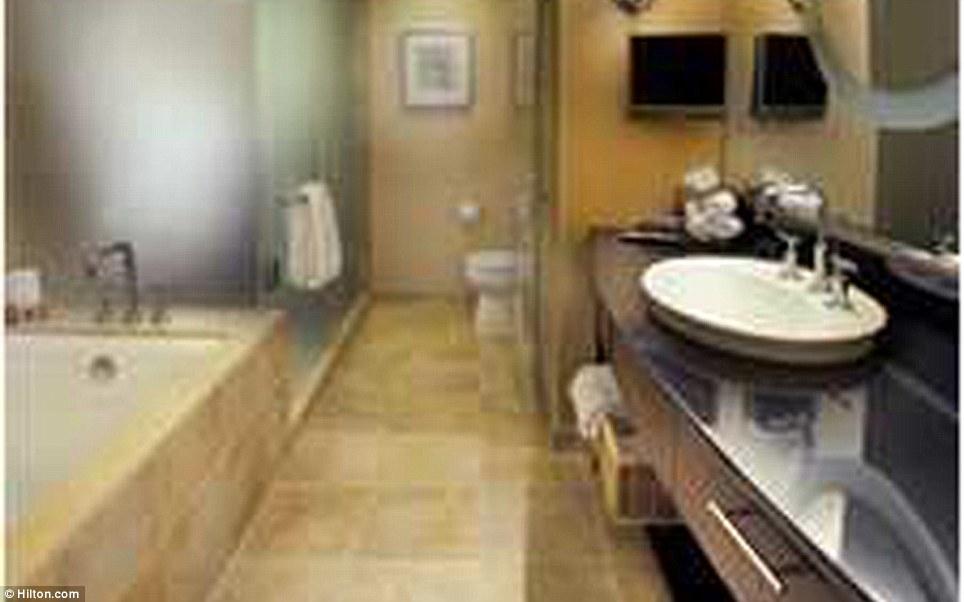 Whitney Houstion Hotel Room