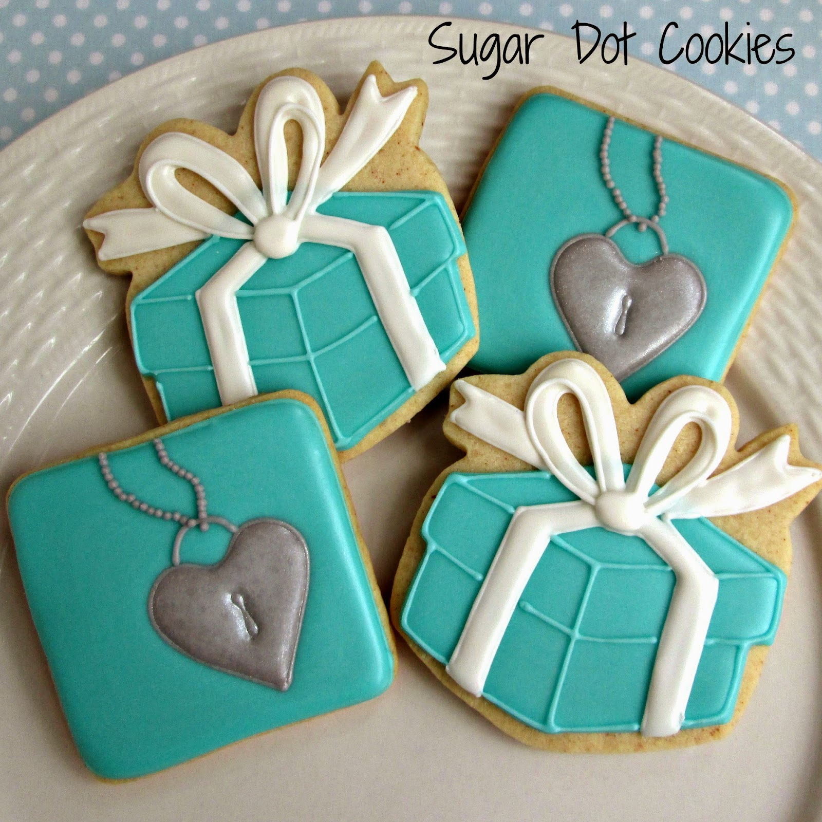 Sugar Dot Cookies Tiffany Inspired Cookies
